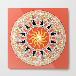 Sunshine mandala Metal Print