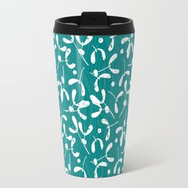 Rustic Mistletoe - Teal Travel Mug
