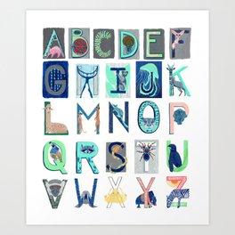 Alphabet Letter Decor Design Art Pattern Art Print