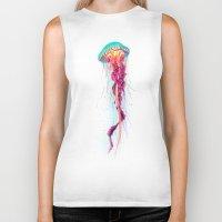 jellyfish Biker Tanks featuring Jellyfish by Nikittysan