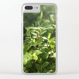 Underbrush wonders in the forest Clear iPhone Case