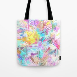 Pastel Abstract Leaves Design Tote Bag
