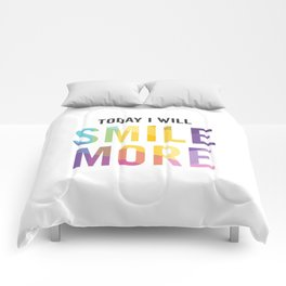 New Year's Resolution - TODAY I WILL SMILE MORE Comforters