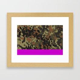 Magenta Fleck Tarn Camo Framed Art Print