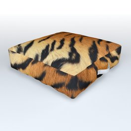 Faux Siberian Tiger Skin Design Outdoor Floor Cushion
