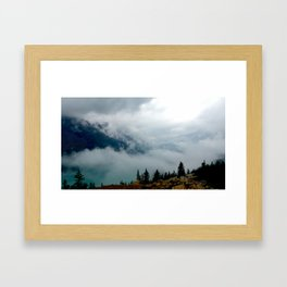 Clouds over Peyto Lake Framed Art Print