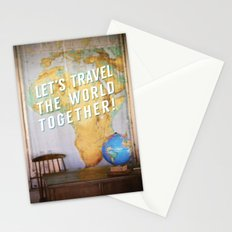 Let's Travel the World Together! Stationery Cards