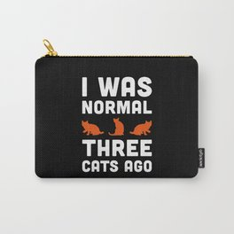 Three Cats Ago Funny Quote Carry-All Pouch