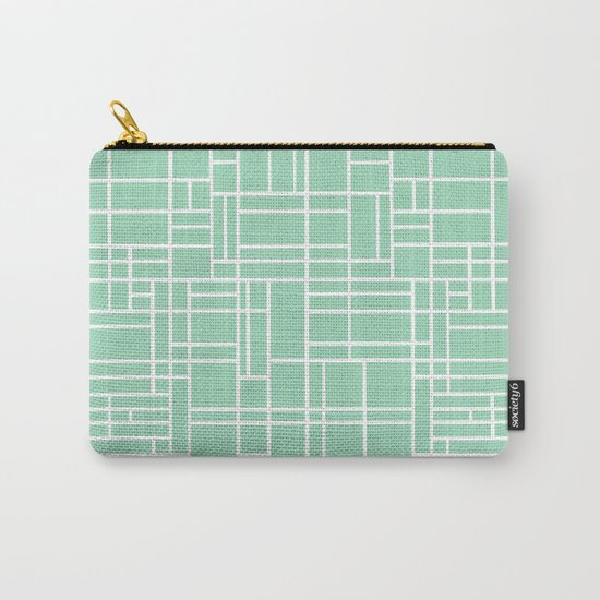 Map Outline Mint Carry-All Pouch