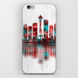 Seattle Washington Skyline iPhone Skin