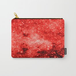 Red Galaxy Sparkle Carry-All Pouch