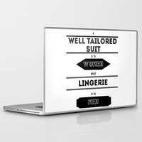 suits Laptop & iPad Skins featuring suits by France Oly