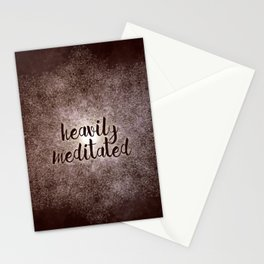 polygon mandala 01 // heavily meditated copper Stationery Cards
