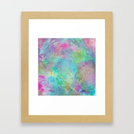 Rainbow Abstract Pattern Framed Art Print