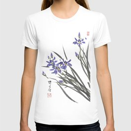 Blue Iris Orchid One T-shirt