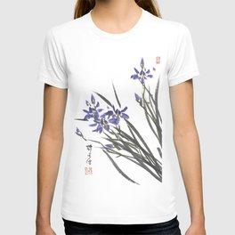 Blue Iris Orchid One T-shirt