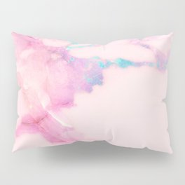 Pink Iridescent Vein Marble Pillow Sham