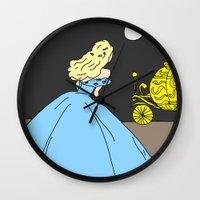 cinderella Wall Clocks featuring Cinderella by RaJess