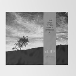 Henry David Thoreau - Solitude Throw Blanket