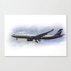 Aeroflot A330 Art Canvas Print