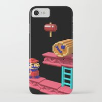 donkey kong iPhone & iPod Cases featuring Inside Donkey Kong by Metin Seven