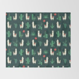 Fleece Navidad and Cactus Throw Blanket