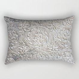 Cambodian Temple Wall Rectangular Pillow