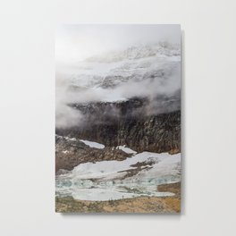 Mount Edith Cavell and Cavell Pond Metal Print