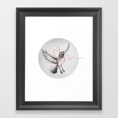 COURIER ROBIN Framed Art Print