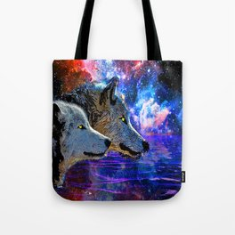 NEBULA WOLF OF THE NIGHT Tote Bag
