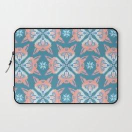 Pastel Fox Pattern Laptop Sleeve