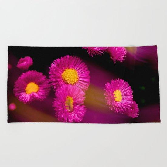 Pink stars Beach Towel