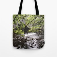 bridge Tote Bags featuring Bridge   by Mark Spence