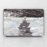 allyson johnson iPad Cases featuring Johnson Canyon Inukshuk by RMK Photography
