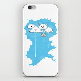 Young Clouds fooling around iPhone Skin
