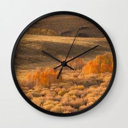 Autumn Flames Wall Clock