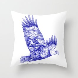 Eagle Rider Throw Pillow