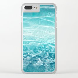 Blue Ocean Dream #1 #water #decor #art #society6 Clear iPhone Case