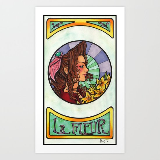 FFVII - Aeris Gainsborough Art Print