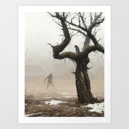 old apple tree Art Print