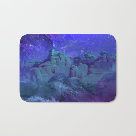 purple desert landscape Bath Mat