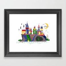 Pop Art Hogwarts Framed Art Print