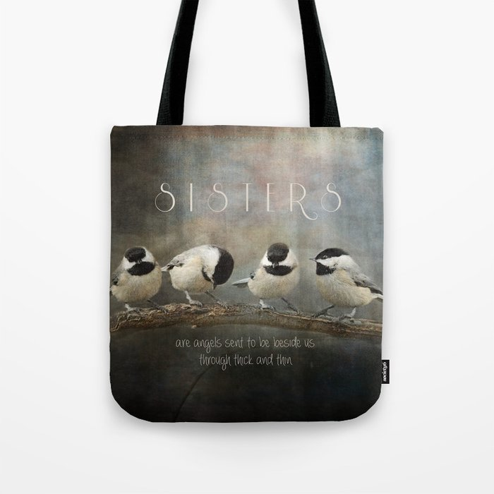Sisters - Chickadees - Birds Tote Bag