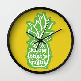 You know that's right Wall Clock
