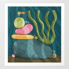 Tiny Mermaid #3 Art Print