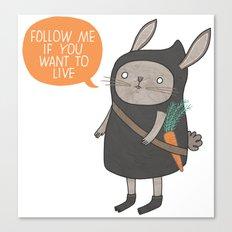 Ninja Bunny Canvas Print