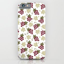Sweet Grapevine on Snow iPhone Case