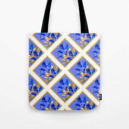 PATTERNED MODERN ABSTRACT BLUE & GOLD CALLA LILIES Tote Bag