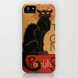 Le Chat Noir - Cabaret Poster iPhone Case