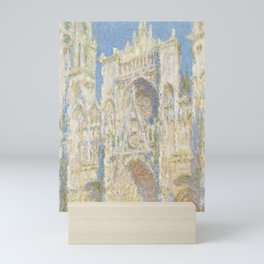Claude Monet - Rouen Cathedral, West Façade, Sunlight Mini Art Print